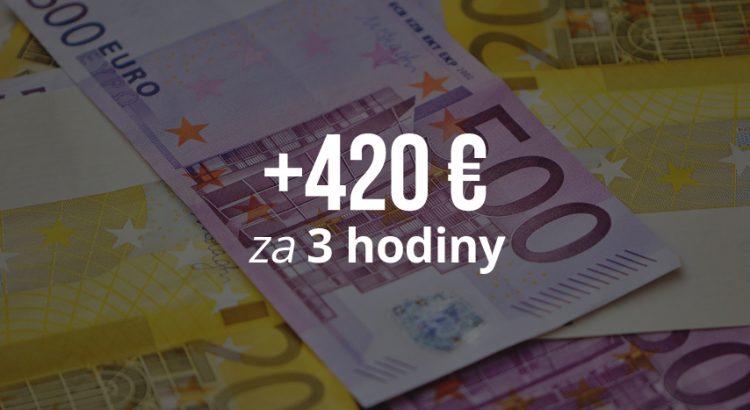 ako zarobiť 420 eur